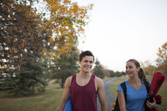 Young adults working out together Royalty Free Stock Photo
