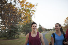 Young adults working out together Stock Photography