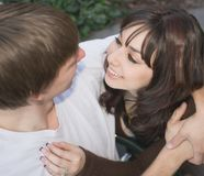 Young And Affectionate Couple. Young woman looking at her boyfriend with affection Stock Photography