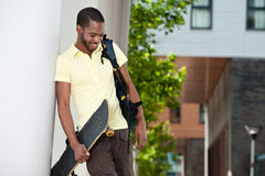 Young Afrian American Student Outside Royalty Free Stock Images