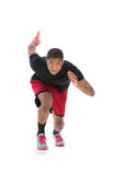 Young African American Athlete Sprinting Isolated Royalty Free Stock Image