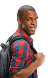 Young African American with Backpack Stock Photography