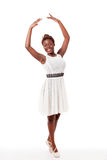 Young african-american ballet dancer in sous sous Stock Images