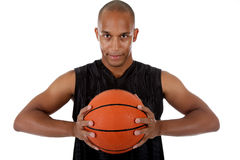 Young African American basketball player Stock Photos