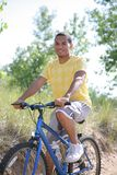 Young African American Biking Royalty Free Stock Images