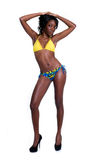 Young African American in Bikini Stock Photos