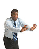 Young African American Businessman Isolated Stock Photo