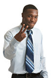Young African American Businessman Isolated Stock Image