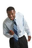 Young African American Businessman Isolated Stock Photography