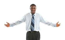 Young African American Businessman Isolated Royalty Free Stock Photo