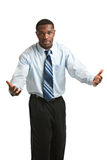 Young African American Businessman Isolated Royalty Free Stock Photography