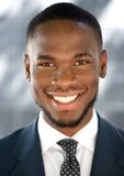 Young african american businessman smiling Stock Photography
