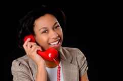 Young African American Businesswoman Stock Photography