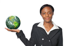 Young African American Businesswoman Royalty Free Stock Image