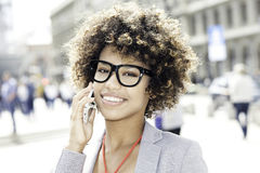 Young african american businesswoman. Royalty Free Stock Photos