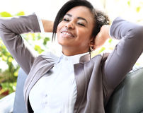 Young african american businesswoman Stock Image