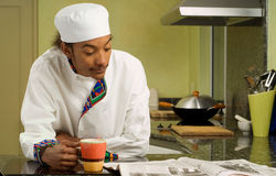 Young African American Chef Stock Photos