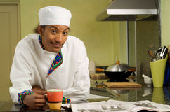Young African American Chef Stock Photo