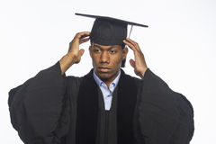 Young African American college graduate, horizontal Stock Image