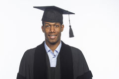 Young African American college graduate, horizontal Royalty Free Stock Images