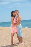 Young African American Couple by the Beach Stock Photography