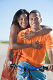Young African American couple Outdoors Royalty Free Stock Photo
