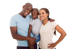 Young african american family Royalty Free Stock Image