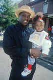 Young African-American father and child. At Puerto Rican Parade, Wilmington, DE Stock Images