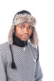 Young African-American feeling cold Royalty Free Stock Photo