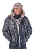 Young African-American feeling cold Royalty Free Stock Images
