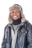 Young African-American feeling cold Stock Images