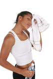 Young African American Female after Exercise Royalty Free Stock Image