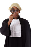 Young african. American judge man. Royalty Free Stock Photography