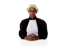 Young African American judge man. Stock Images
