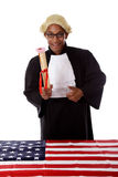 Young african. American judge man. Stock Image