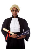 Young african. American judge man. Stock Photos