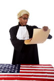 Young african. American judge man. Stock Images
