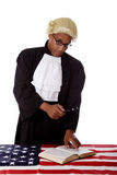 Young african. American judge man. Royalty Free Stock Image