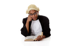 Young African American judge man. Royalty Free Stock Images