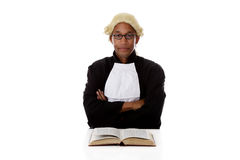 Young african. American judge man. Royalty Free Stock Photos