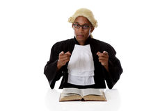 Young African American judge man, pointing Royalty Free Stock Images