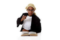 Young African American judge man, pointing Stock Images