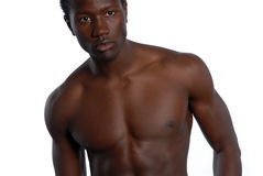Young African American Male. African American Male with bare chest Stock Images