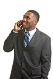 Young African American Male Model Calling Isolated Stock Images