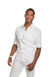 Young African American Male Model Isolated Royalty Free Stock Photo