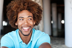 Young African American man at the beach Royalty Free Stock Image