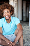 Young African American man at the beach Royalty Free Stock Images