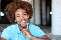 Young African American man at the beach Royalty Free Stock Photography