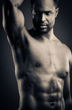 Young African American Man Body Pose Stock Photography