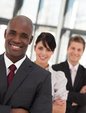 Young African American Man Business Leading A Team Stock Photos